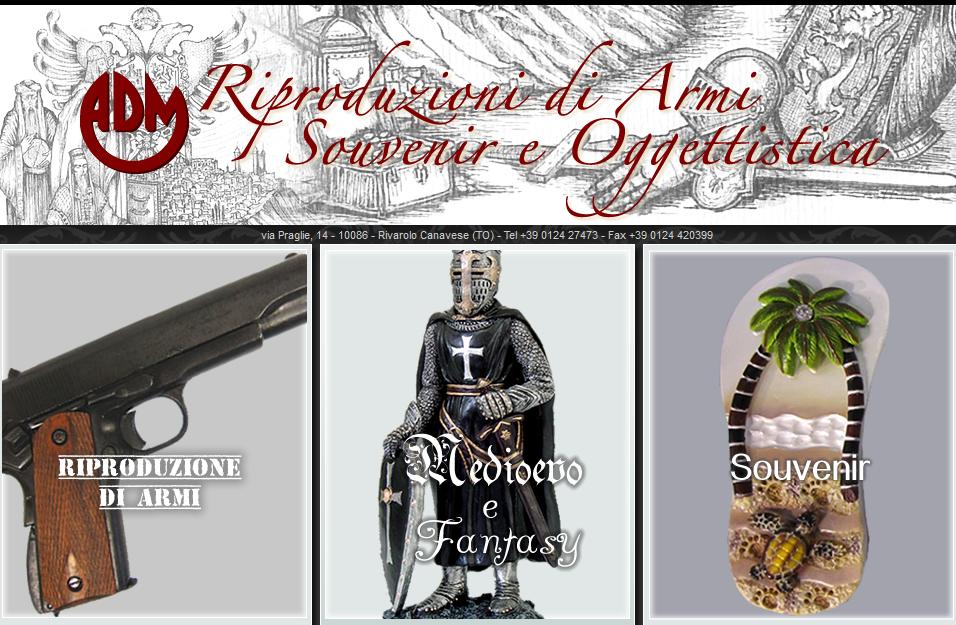 Adm s r l riproduzioni di armi e souvenir wpweb s r l for Riproduzioni design